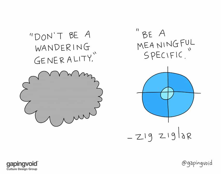 Don't be a wandering generality