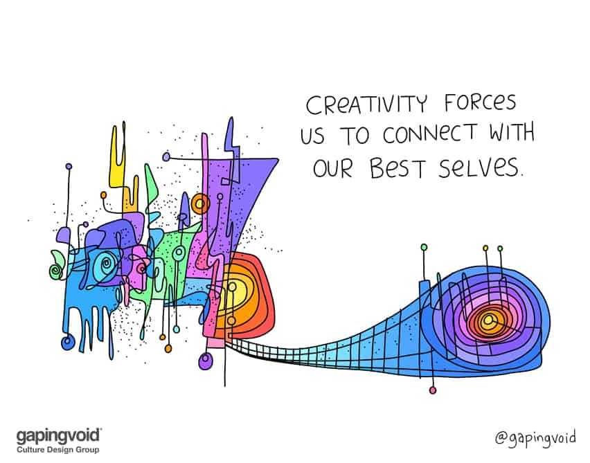 creativity forces us to connect with our best selves