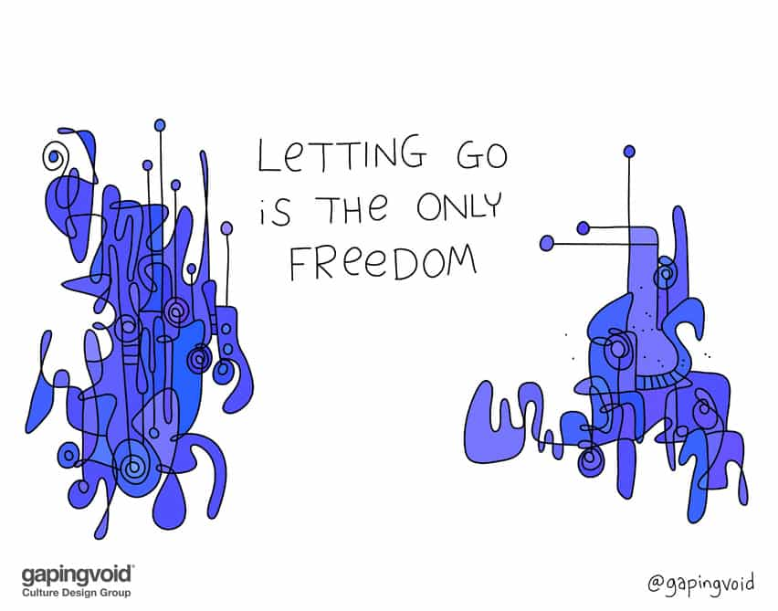 letting go is the only freedom