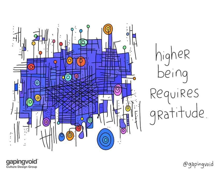higher being requires gratitude