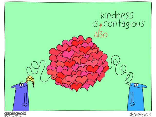 culture of empathy; kindness is also contagious