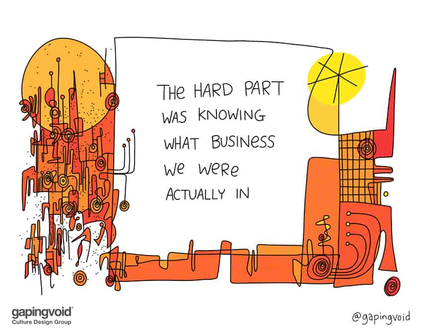 agile culture;the hard part was knowing what business we were actually in