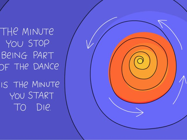 driver of innovation;the minute you stop being part of the dance is the minute you start to die