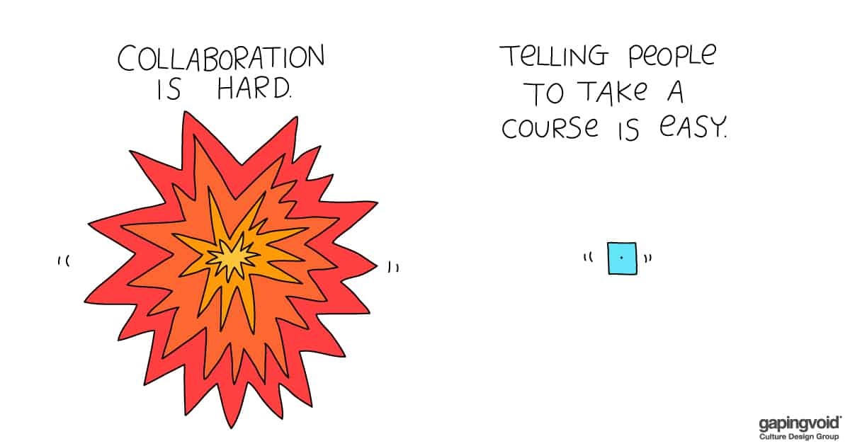 diversity and inclusion training;collaboration is hard telling people to take a course is easy