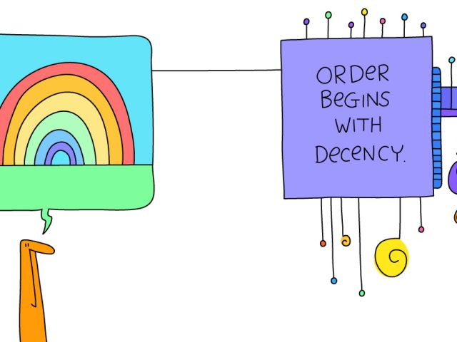 culture of empathy;order begins with decency