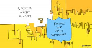 behavioral psychology;A positive healthy mindset becomes your main superpower