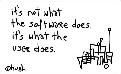 it's not what the software does. it's what the user does.