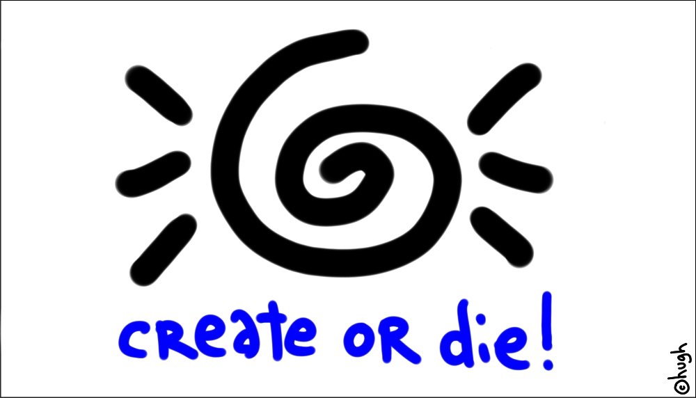 Create or Die, courtesy of Gapingvoid